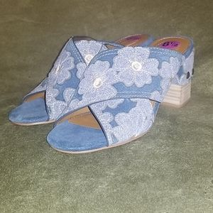 🆕️ Light Blue Flower See By Chloe Ankle Booties